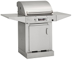 TEC Sterling FR G2000 Natural Gas Grill with 2 Side Shelves on Cabinet