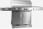 TEC Sterling FR G3000 Propane Countertop Grill on Cabinet