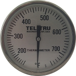 Tel -Tru Big Green Egg, Kamado Replacement Thermometer LT225R