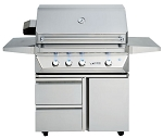 Twin Eagles 36 Inch Gas Grill - On Cart with 2 Drawers and 1 Door