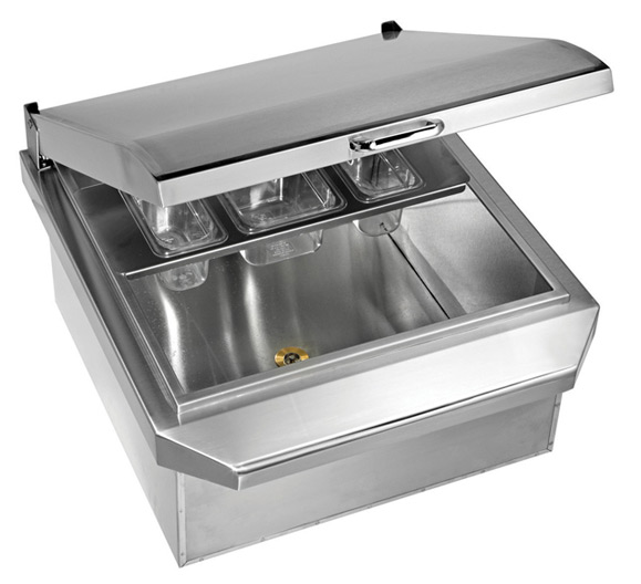 Twin eagles 24 inch drop in cooler for Drop in cooler for outdoor kitchen