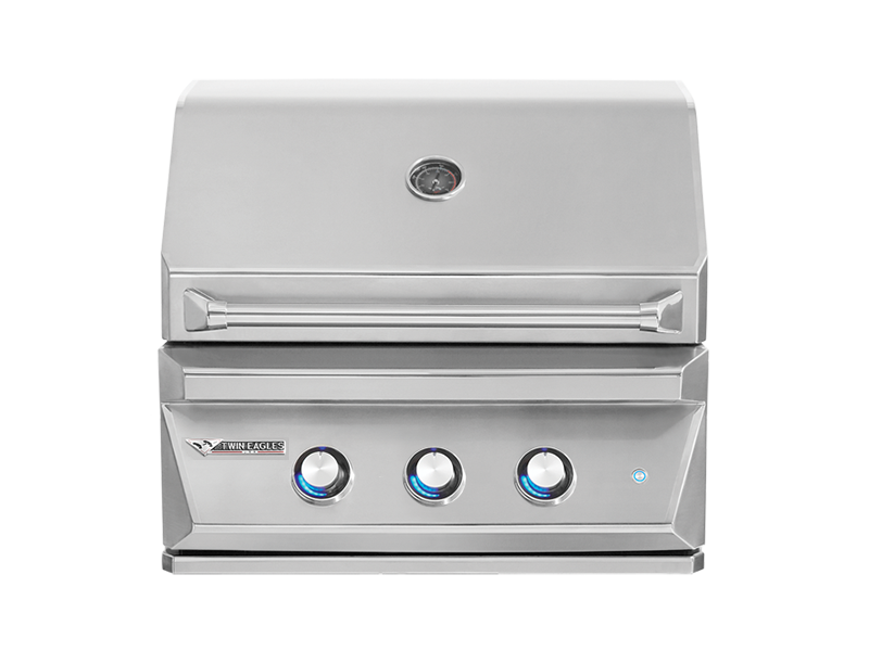Twin Eagles 30 Inch Natural Gas Grill with Rotisserie and Sear Zone