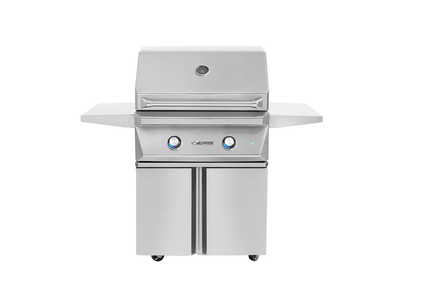Twin Eagles 30 Inch Propane Grill with Rotisserie and Sear Zone on Cart