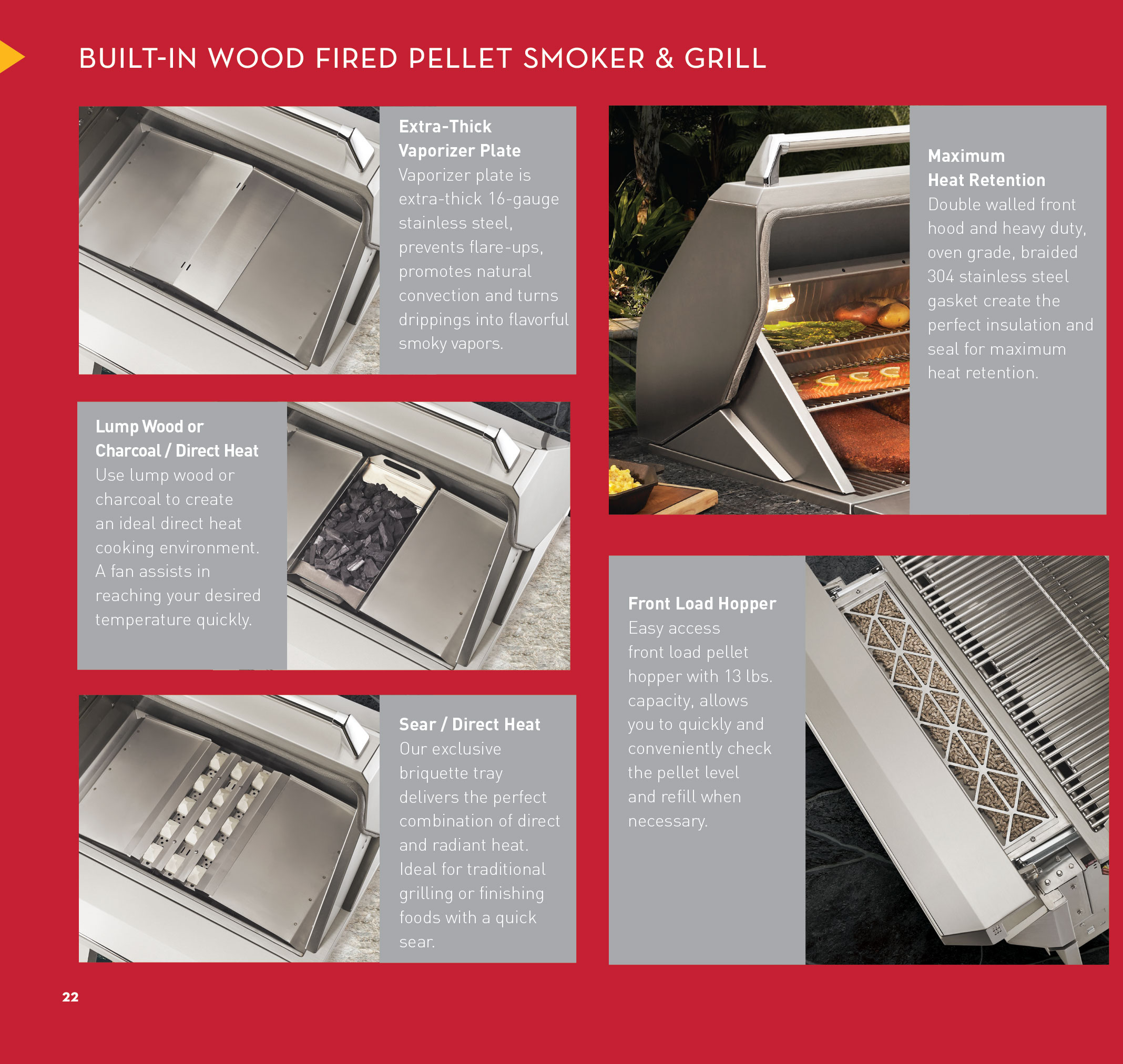 Twin Eagles 36 Quot Wood Fired Pellet Smoker Amp Grill Built In
