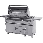 "Alfresco 56"" Deluxe Grill with Sear Zone on Refrigerated Base - LP"