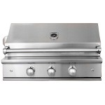 Caliber CrossFlame Silver 35 Inch Natural Gas Grill with Rotisserie