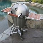 Caliber Thermashell Pro Stainless Charcoal Grill w/ Wood Handle