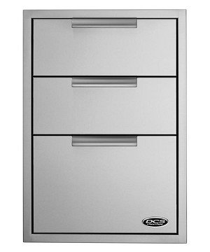 The DCS 20 Inch Triple Tower Drawer with Soft Close