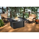 Napa Valley Fire Pit Square Table - Absolute Black Metal Base