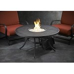 "Nightfire 42"" Round Mesh Table and Round Burner"