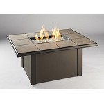 Napa Valley Fire Pit Rectangular Table - Brown Metal Base