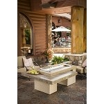 Uptown Brown Fire Pit Table w/ CF1242 Burner
