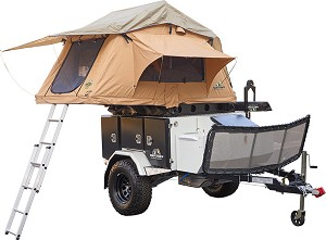 Tuff Stuff Xtreme Base Camp Expedition Trailer, Ranger Roof Top Tent and 6.5' Awning Combo Unit