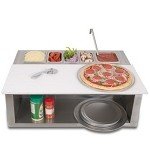 Alfresco Pizza Prep and Garnish Rail with Food Pans