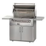 Alfresco LXE Series 36 Inch Sear Zone Grill on Cart