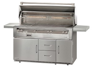 Alfresco LXE Series 56 Inch Standard All Propane Grill on Refrigerated Base