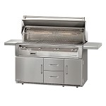 Alfresco LXE Series 56 Inch Standard All Grill on Refrigerated Base