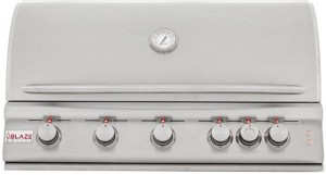 Blaze LTE 40 Inch 5-Burner Natural Gas Grill With Rear Burner and Lights