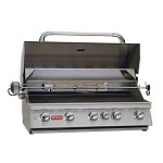 Bull Brahma Natural Gas Grill with Lights and Rotisserie