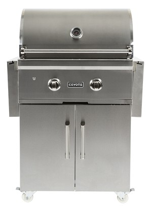 Coyote 28 Inch C-Series Propane Gas Grill on Cart