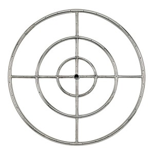 Stainless Steel Triple Fire Ring - 36 Inch