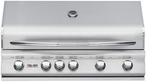 Delsol 40 Inch Natural Gas Grill with Rotisserie Burner