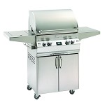 Fire Magic Aurora A430s Natural Gas Grill On Cart W/ Single Side Burner