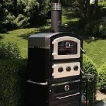 Fornetto ALTO Wood Fired Oven & Smoker with Warming Drawer and Wood Storage