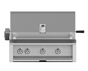 Hestan Aspire 36 Inch Natural Gas Grill, 3 (U) Burner with Rotisserie