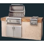 Luxor 54 Inch Natural Gas Grill with Rotisserie & Light