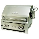 Luxor 30 Inch Natural Gas Grill with 2 Infrared Burners, Rotisserie and Light
