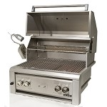 Luxor 30 Inch Natural Gas Grill with IR Back Burner, Rotisserie and Light
