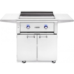 Lynx 30 Inch Asado Flat Top Propane Gas Grill on Cart