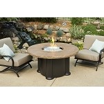 "Colonial Fireberglass Chat Height Coffee Table w/ 48"" Round Mocha Top"