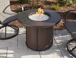 Stonefire 32 Inch Fire Pit Table w/Burner Cover
