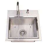 Sunstone Premium Drop In Sink w/ Hot and Cold Faucet & Cutting Board