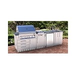 Sunstone Ultra Luxe Straight Cabinet Island w/Grill & Components