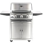 Sure Flame 26 Inch Deluxe 3 Burner Propane Grill - On Cart