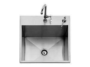 Twin Eagles 24 Inch Outdoor Sink w/ Faucet & Soap Dispenser